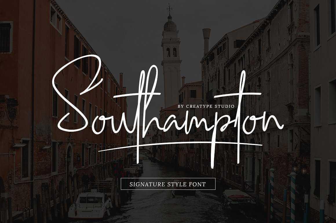 southampton-signature-style-font