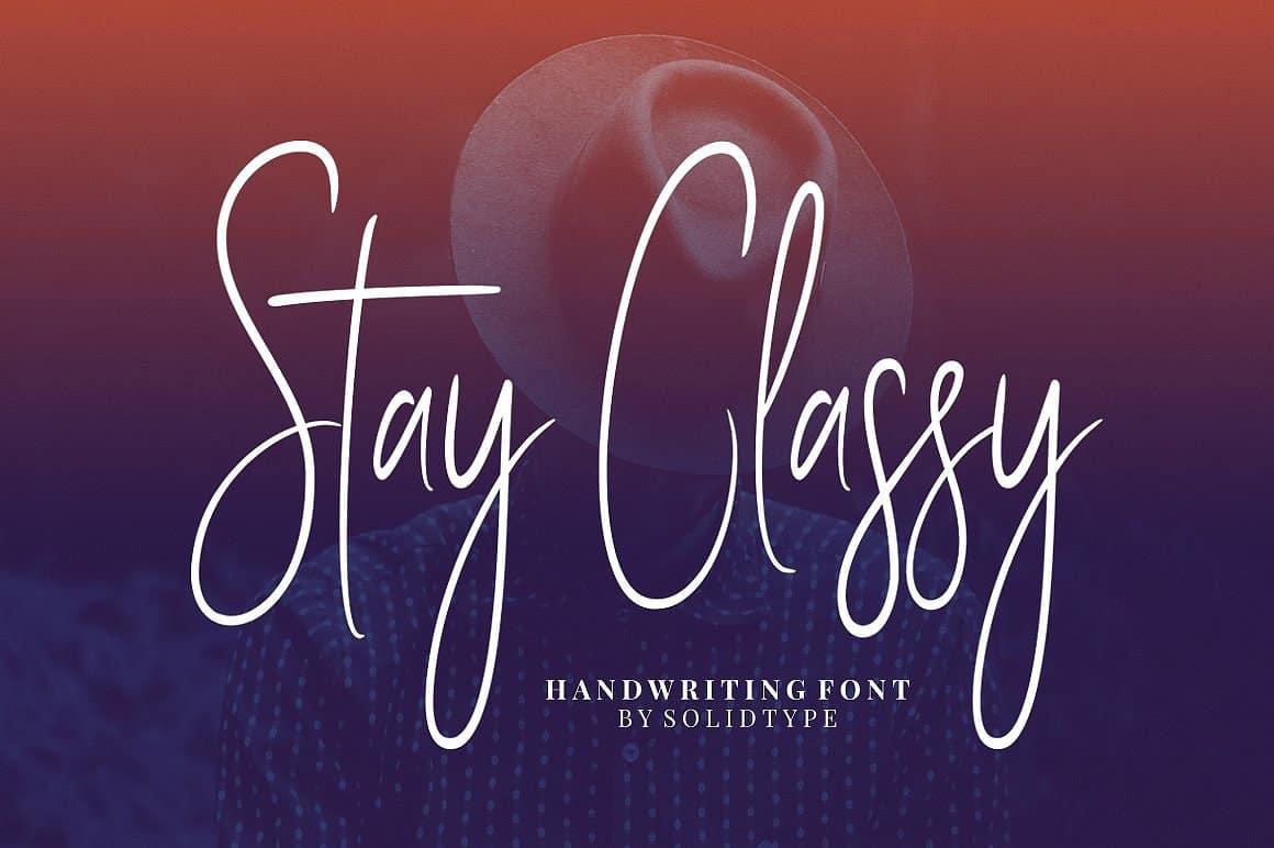 stay-classy-script-font