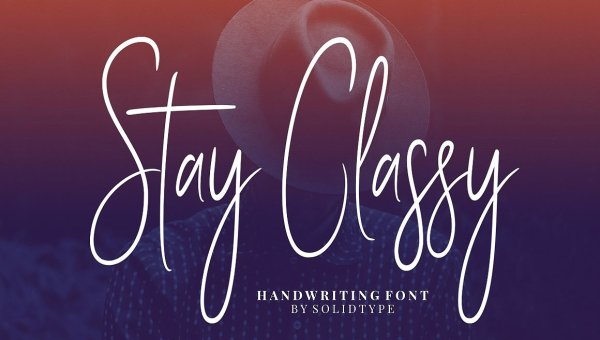 Stay Classy Script Font Free