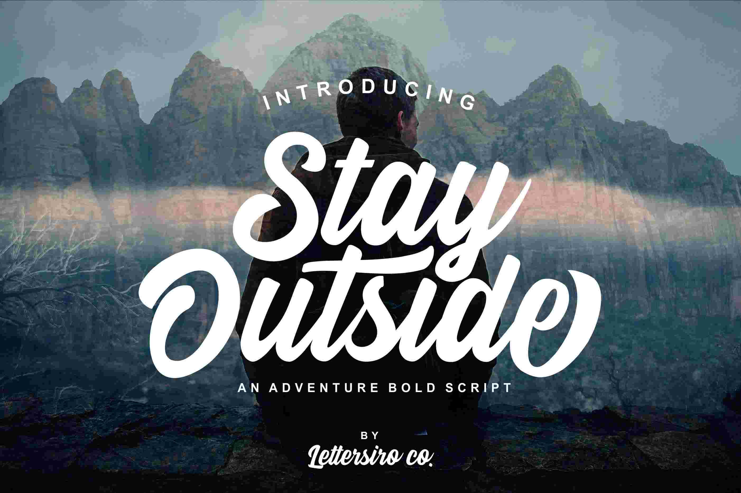 stay-outside-script-font