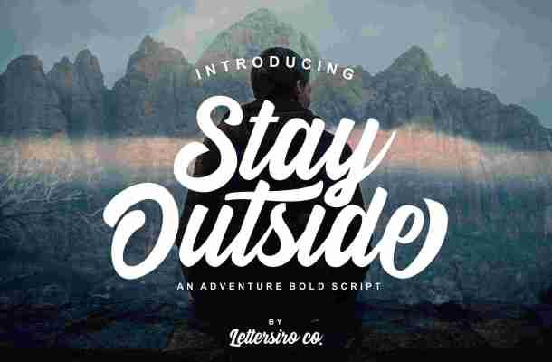Stay Outside Script Font Free Download