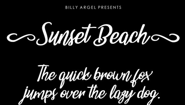 Sunset Beach Font Free Download