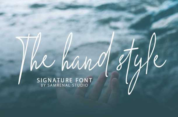 The Hand Style Script Font Free Download