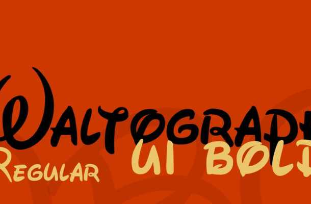 Waltograph Font Free Download