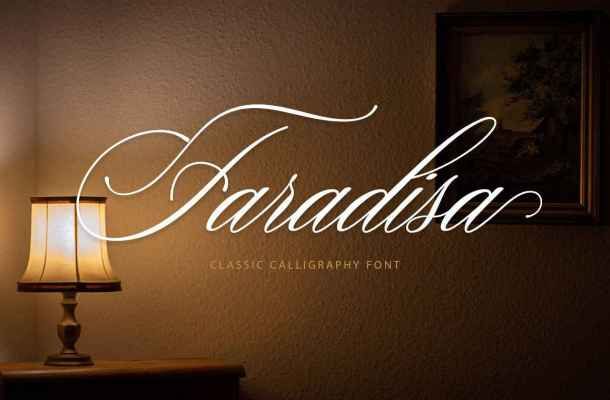 Faradisa Script Font Free Download