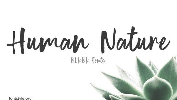 Human Nature Font Free Download