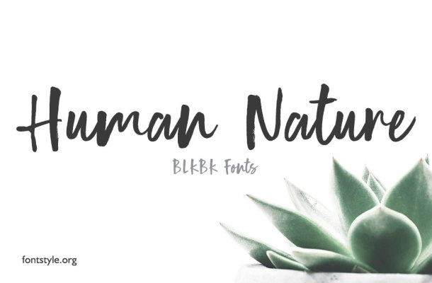 Human Nature Font Free Download