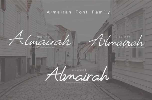 Almairah Script Font Family Free Download