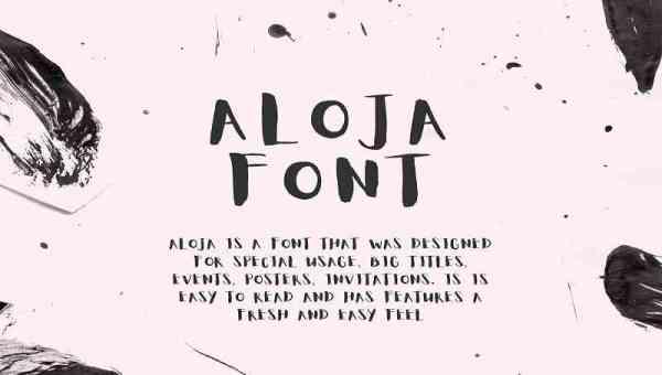 Aloja Handwritten Font Free Download