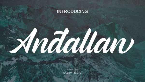 Andallan Script Font Free Download