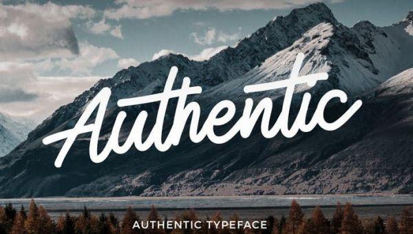 Authentic Monoline Script Font Free Download