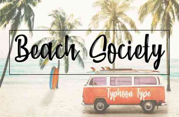 Beach Society Brush Font Free Download
