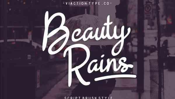 Beauty Rains Script Font Free Download