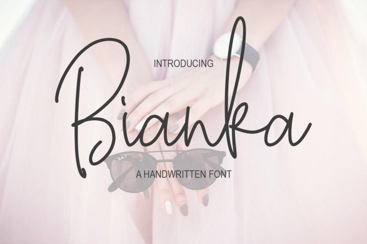 bianka-script-font