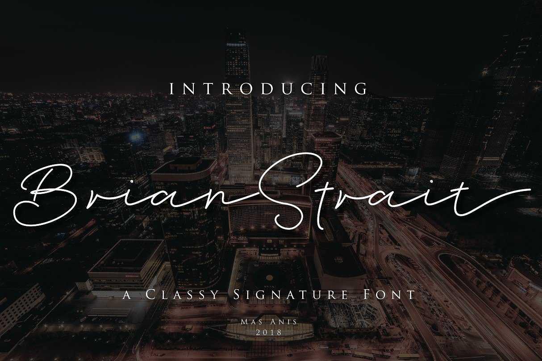 brian-strait-signature-font