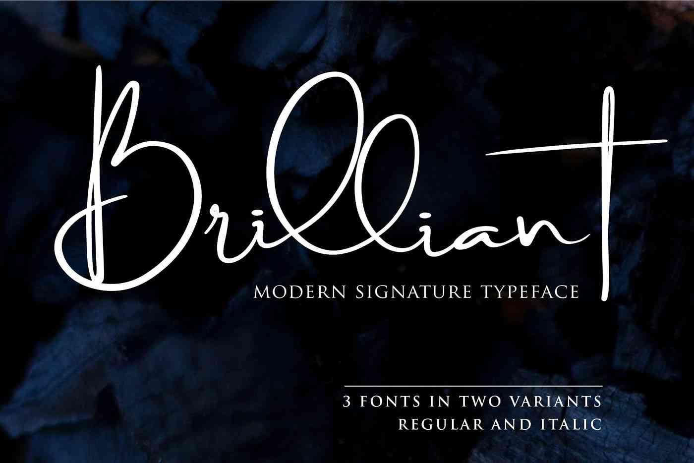 brilliant-signature-font