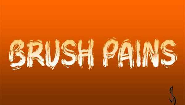 Brush Pains Font Free Download