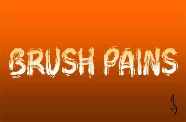 Brush Pains Font Free Download