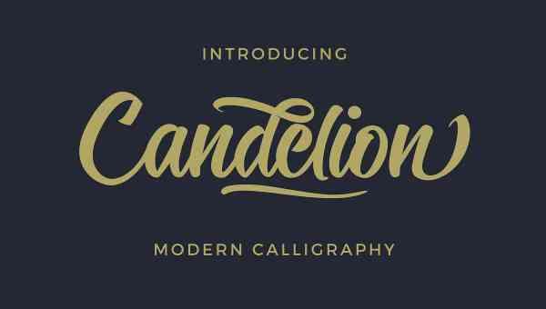 Candelion Script Font Free Download