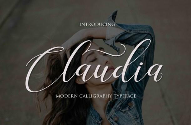 Claudia Script Font Free Download