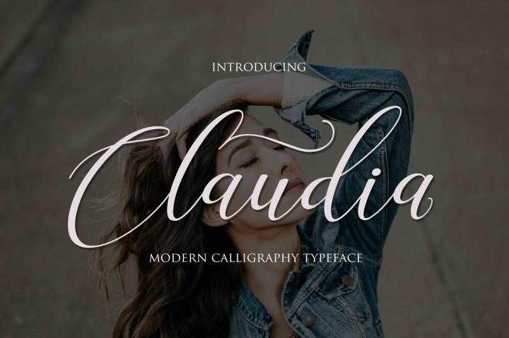 claudia-script-font