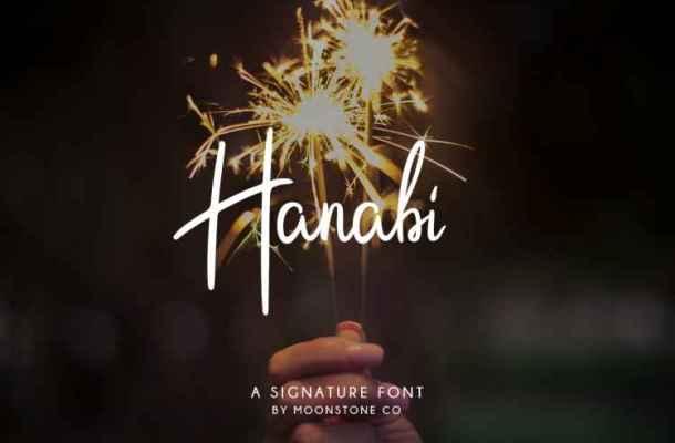 Hanabi Script Font Free Download