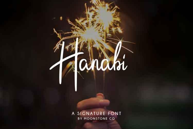 hanabi-script-font