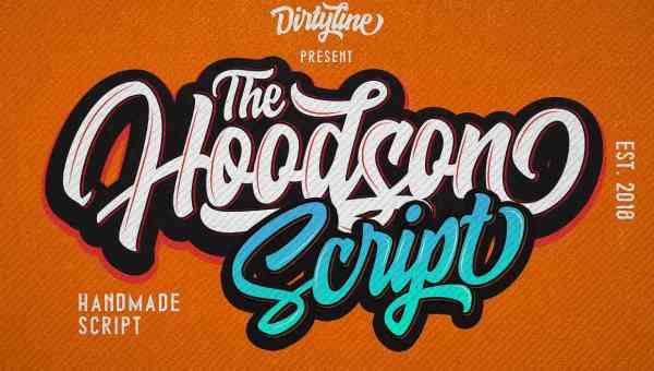 Hoodson Script Font Free Download