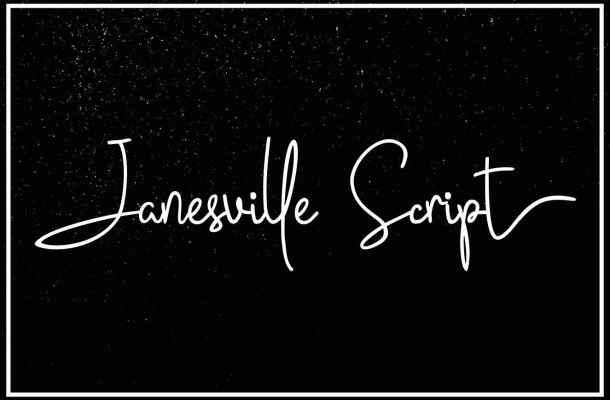Janesville Script Font Free Download