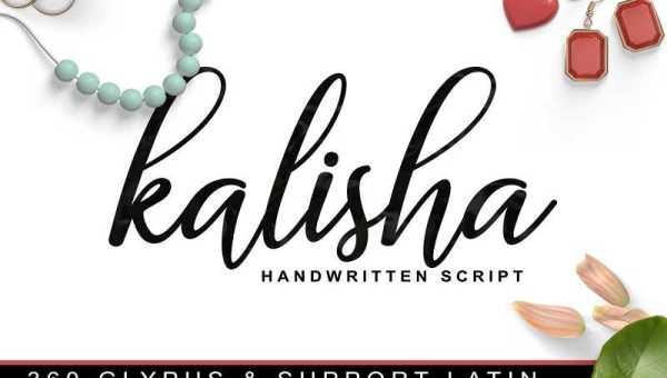 Kalisha Script Font Free Download