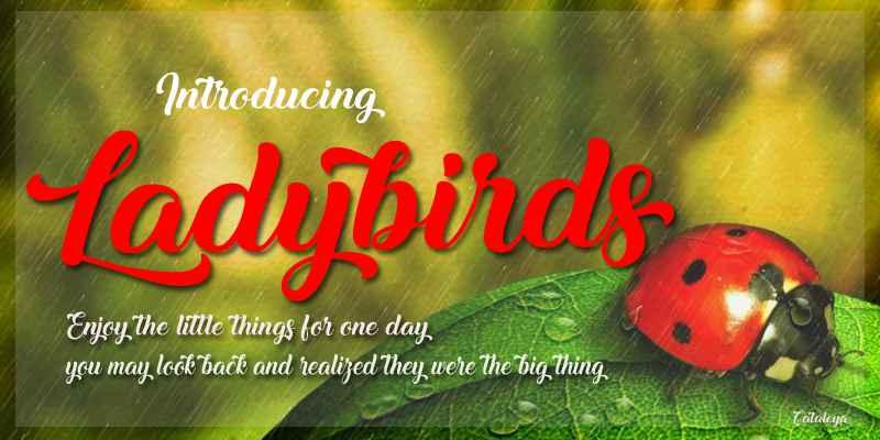 Ladybirds Font Free Download - Dafont Free