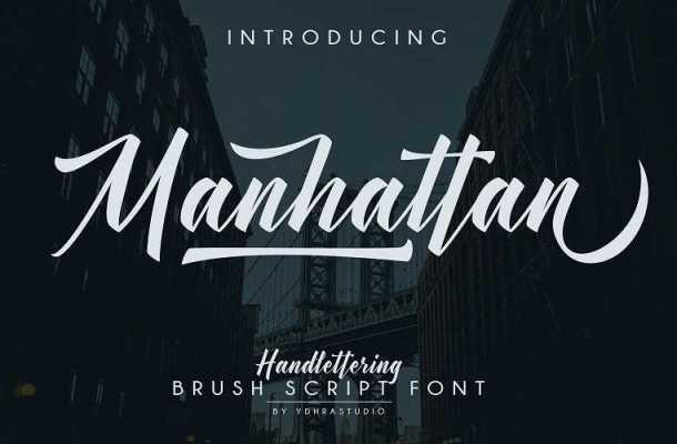 Manhattan Script Font Free Download
