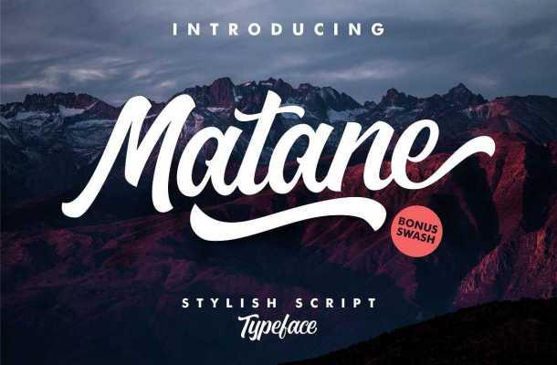 Matane Script Font Free Download