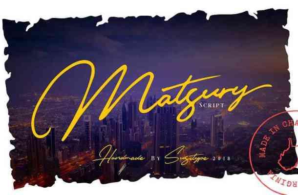 Matsury Script Font Free Download