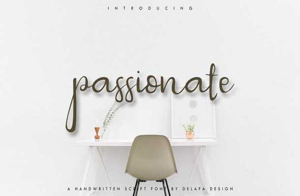 Passionate Script Font Free Download