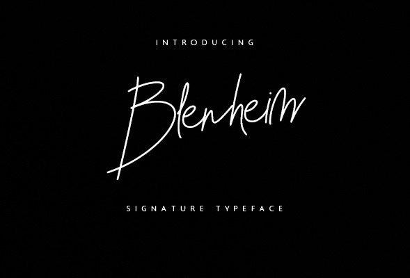 Blenheim Signature Font Free Download