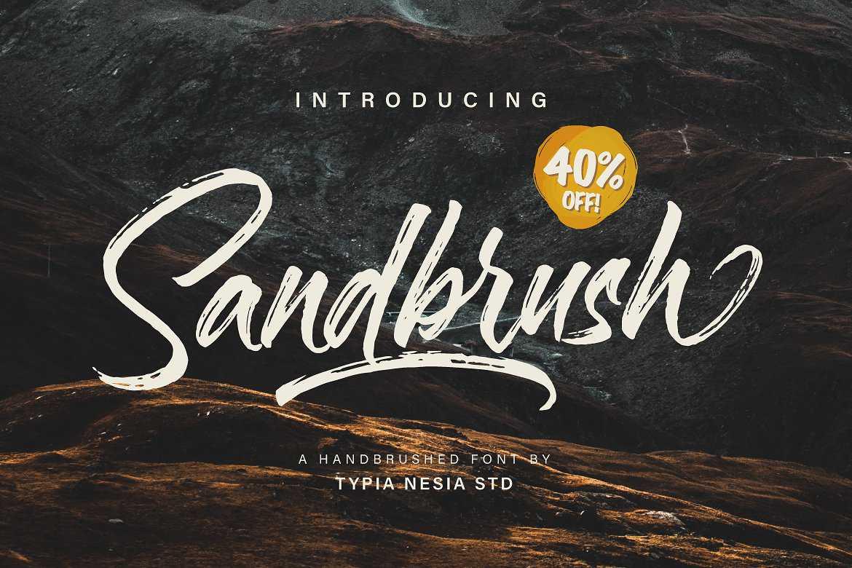 sandbrush-brush-font