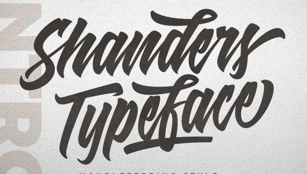 Shanders Script Font Free Download