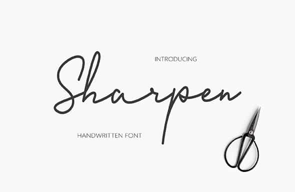 Sharpen Handwriting Font Free Download