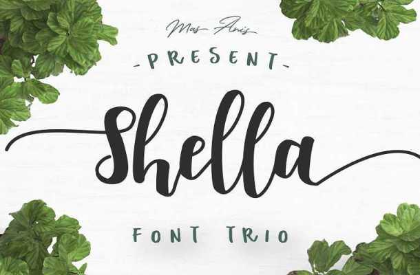 Shella Script Font Free Download