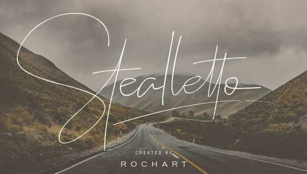 Stealletto Signature Font Free Download