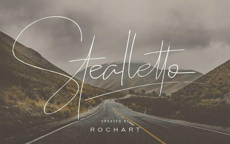 stealletto-signature-font1