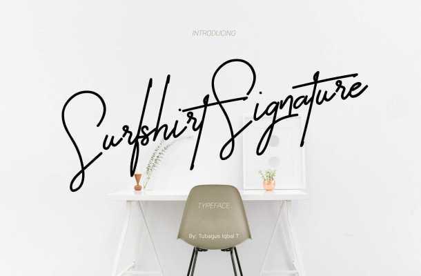 Surfshirt Signature Font Free Download