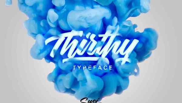 Thirthy Typeface Free Download