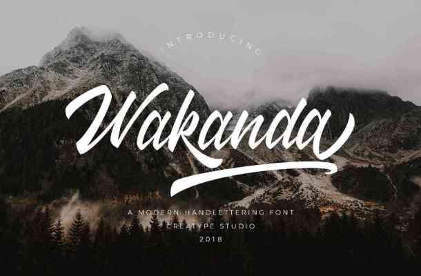 Wakanda Script Font Free Download