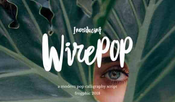 Wirepop Brush Font Free Download