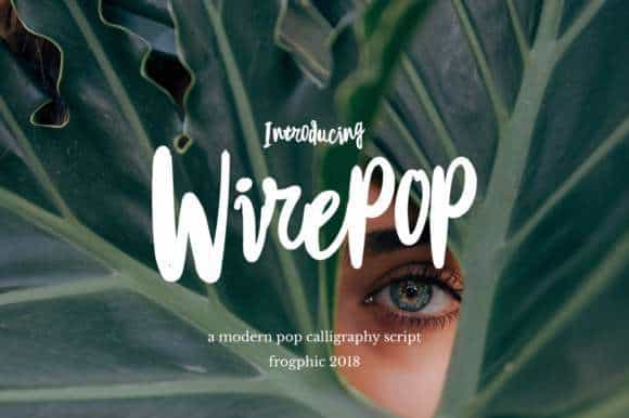 Wirepop Brush Font Free Download