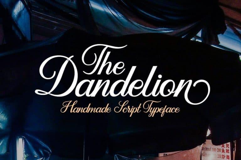 dandelion-script-font-768x512