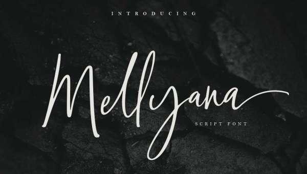 Mellyana Script Font Free Download