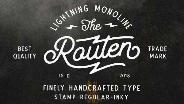 Routen Lightning Monoline Font Free Download